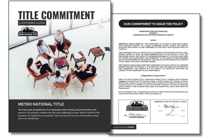 Title Commitment Book